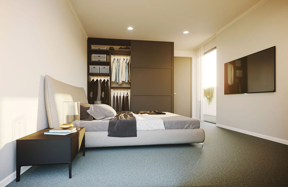Leonard & Lane Bedroom Render | Mason Developments