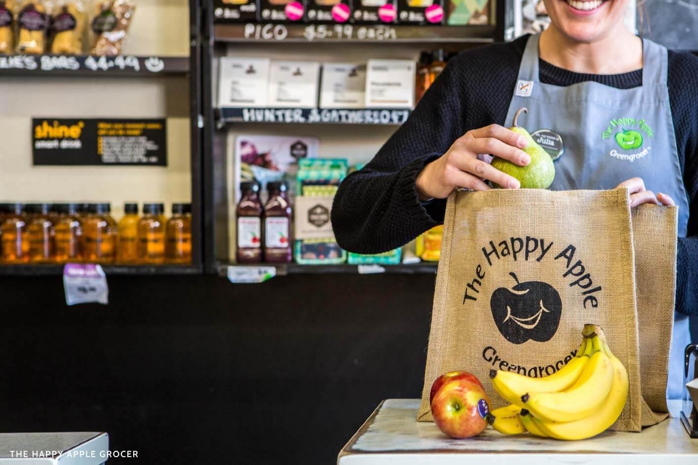 The Happy Apple Grocer | Leonard & Lane