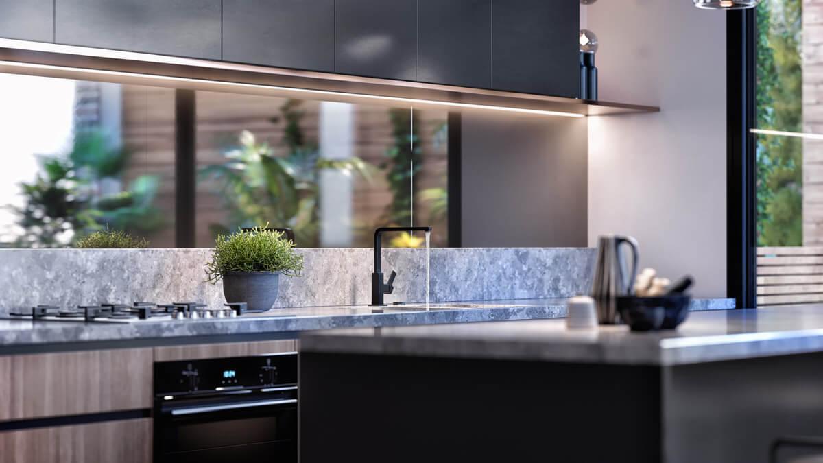 Leveson Place Kitchen Detail - Artist's Impression | Mason Developments